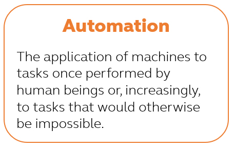 Written definition of automation